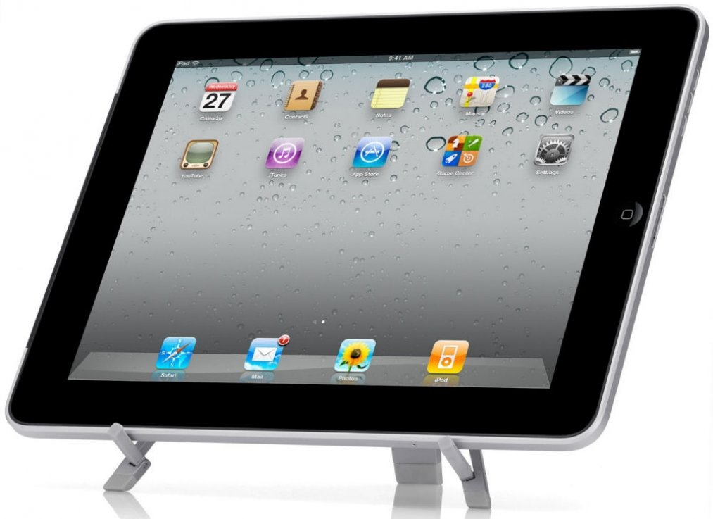 Compass Portable Travel Folding Tablet Stand Desktop Fold-up Holder for iPad Mini 4 - iPad Mini with Retina Display - iPad Pro