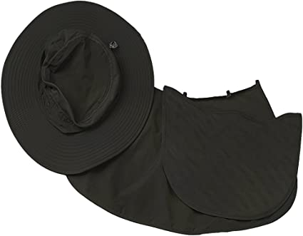 traderplus Unisex Sun Caps UV Protection with Removable Neck and Face Flap Hats for Summer Outdoor Fishing Cycling Hiking Khaki