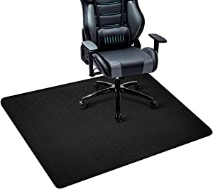 "Office Chair Mat, Hard Floor Mat for Desk, 47"" x 35"" Multi-Purpose Office Desk Chair Mat for Hardwood Floors, Non-Toxic PVC Protector Floor Mat for Home, Updated Version (Black)"