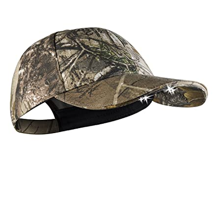 b3066c0a8af POWERCAP CAMO LED Hat 25 10 Ultra-Bright Hands Free Lighted Battery Powered  Headlamp