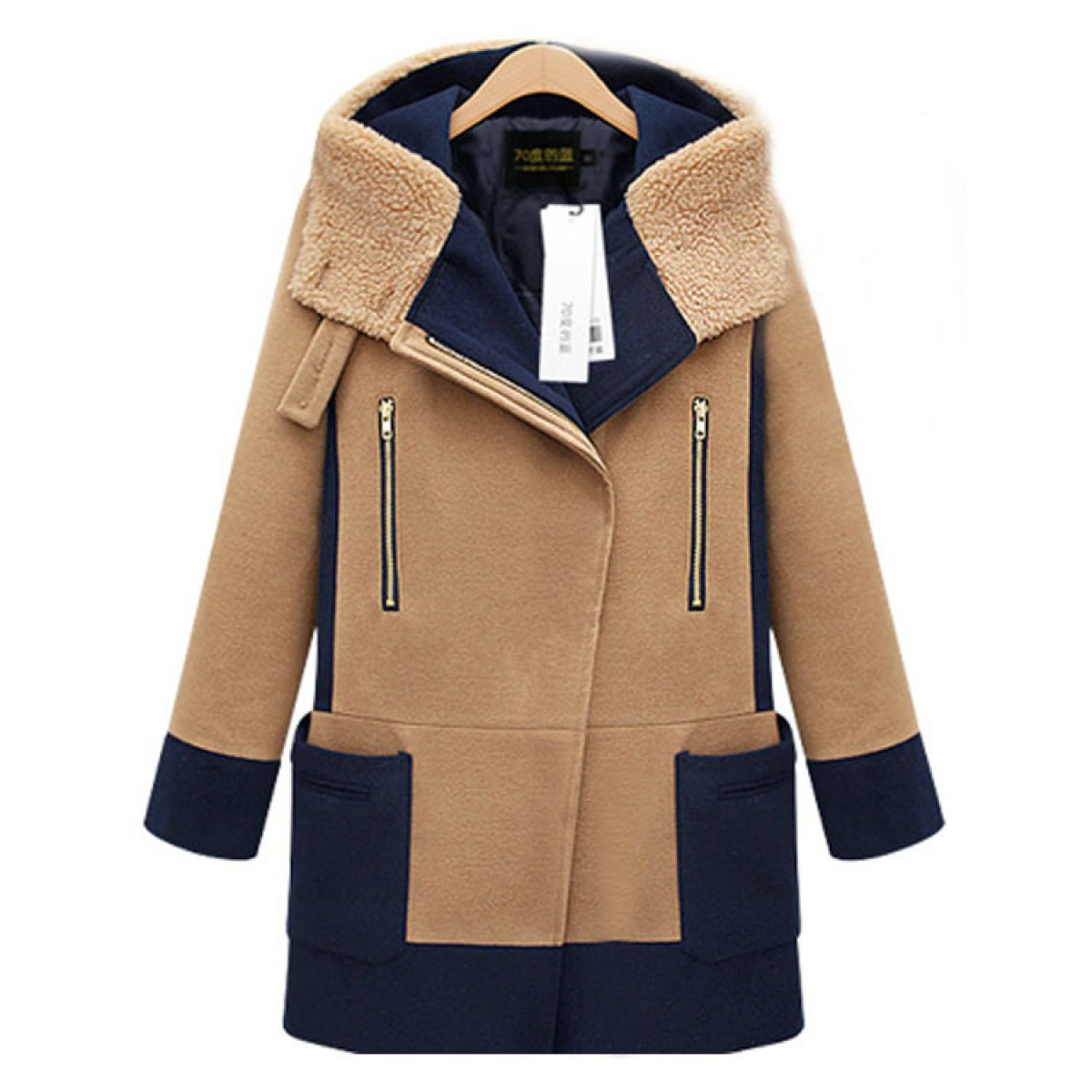 LQABW Chaqueta De Lana De Invierno New Fashion Woolen Coat