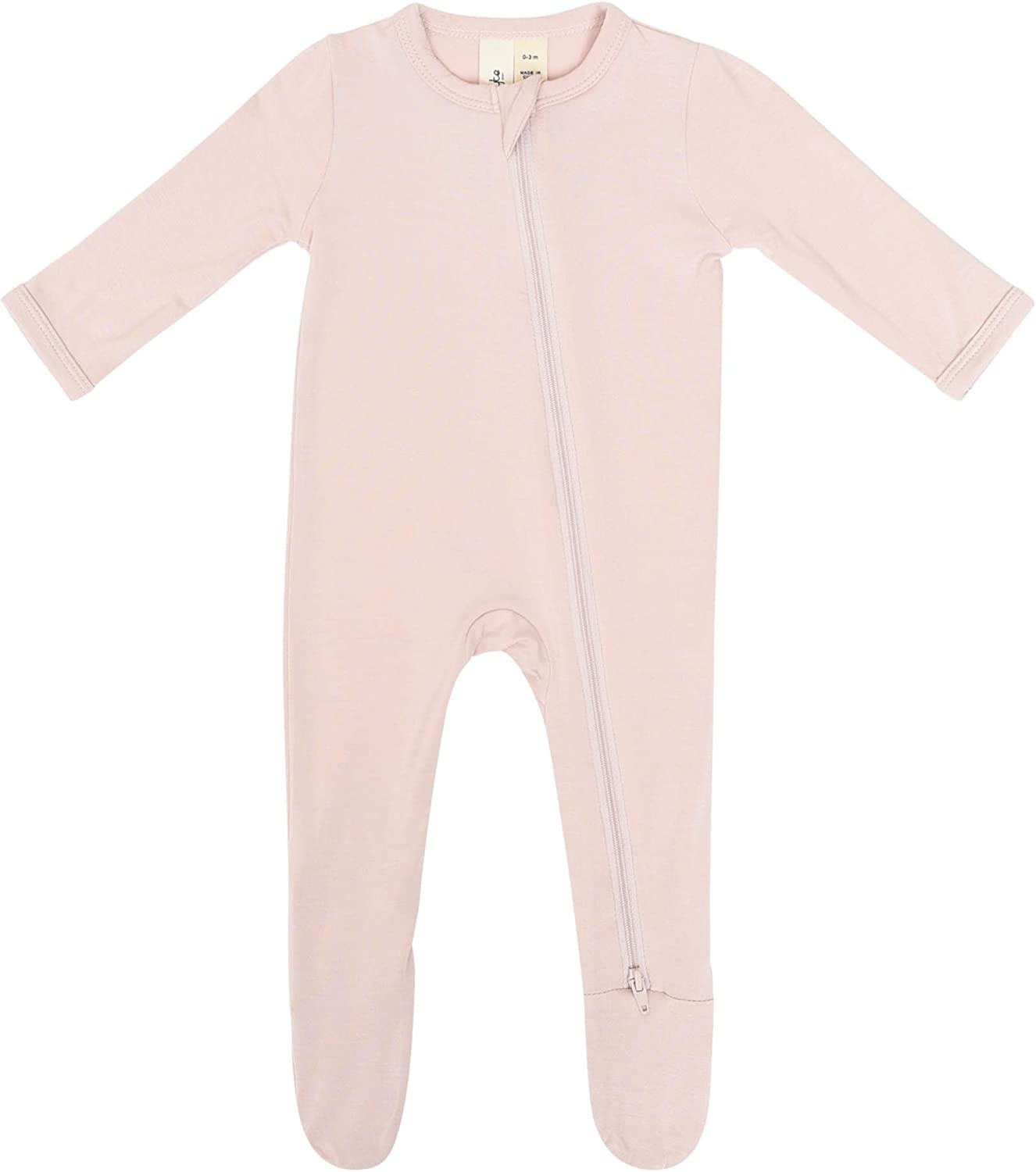 KYTE BABY Soft Bamboo Rayon Footies 0-24 Months Zipper Closure