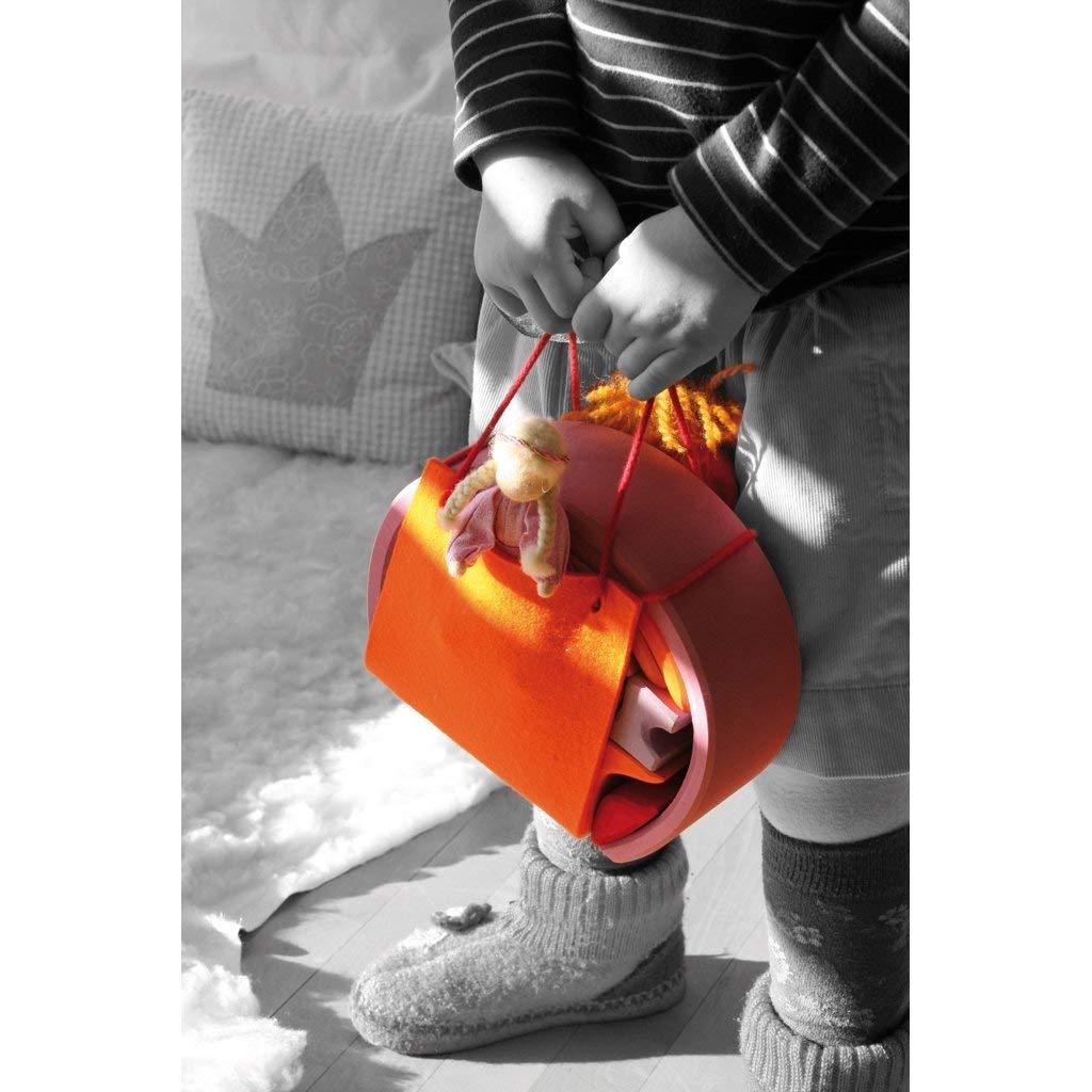 Maison mobile pour mini poup/ées rose orange