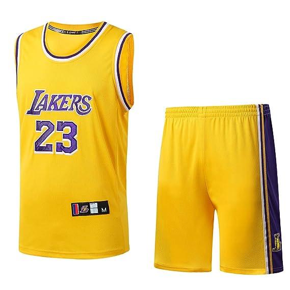 AFDLT NBA 2019 The New 23 Number James Jersey Uniforme De Baloncesto para Hombre Ropa De Entrenamiento: Amazon.es: Deportes y aire libre