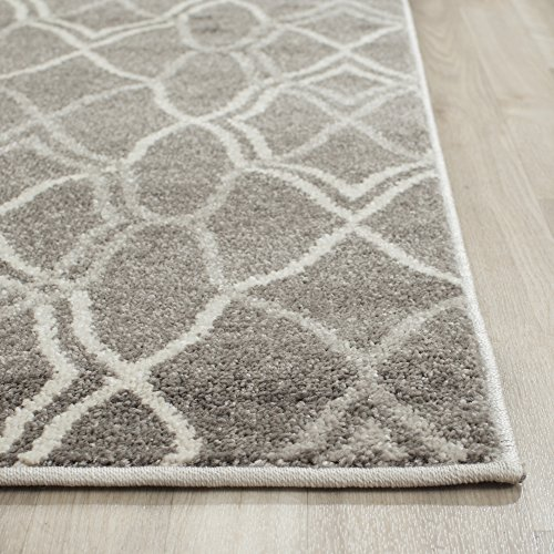 Safavieh Amherst Collection AMT417C Grey and Light Grey Indoor/ Outdoor Area Rug (4' x 6')