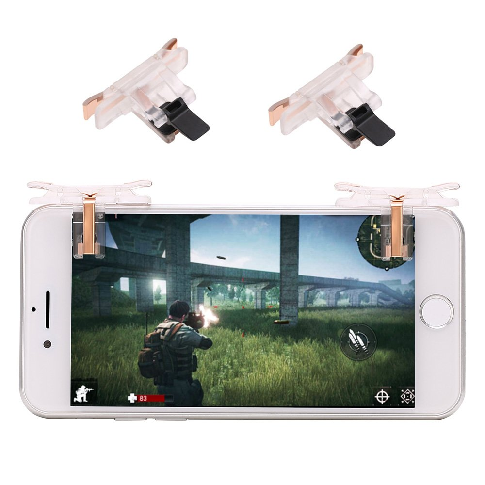 YSSHUI Mobile Controller, 1 Gamepad + 2 Triggers Buttons for Fortnite/PUBG Mobile/Knives Out/Rules of Survial-Y9s