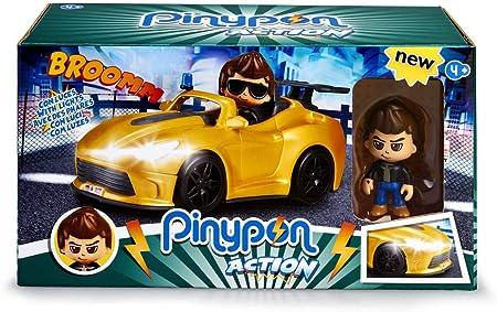 Coche de súper espía con 1 figura y muchos accesorios,El coche tiene luces de verdad con 2 posicione