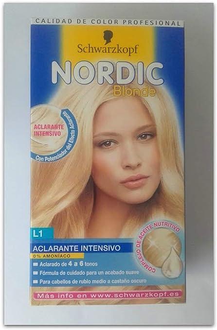Schwarzkopf Nordic Blonde - Tono L1 Aclarante Intensivo Coloración Permanente - 2 unidades