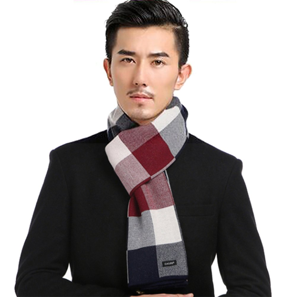 Men scarves winter wool scarf scarf Young business long scarf-E One Size