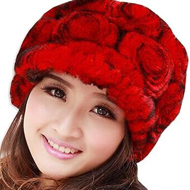 KAXIDY Womens Winter Hat Styles Women Beanies Warm Hats Ladies Faux Fur  Bonnet Wooly Beanie Hat 64c0b0e7857