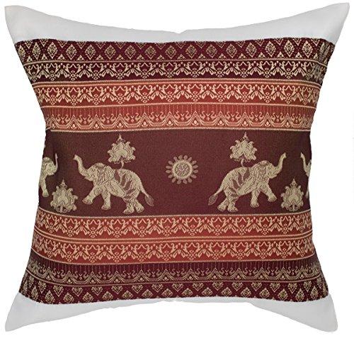 High-Season Print Elephant Sun Throw Pillow Cover Decorative Sofa Couch Cushion Cover Zippered 16x16 Inch (40x40 cm) White