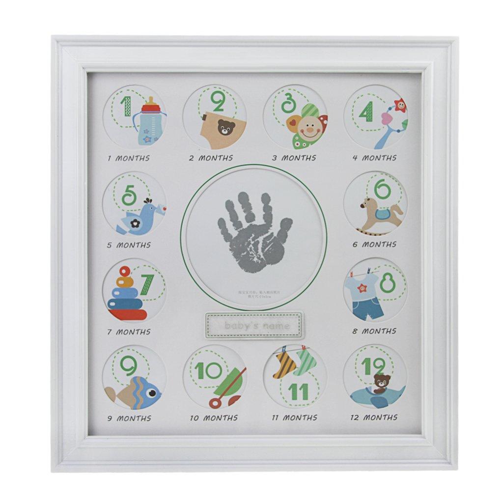 Baby Bilderrahmen, My First Year Geburtstag Touch Handabdruck ...