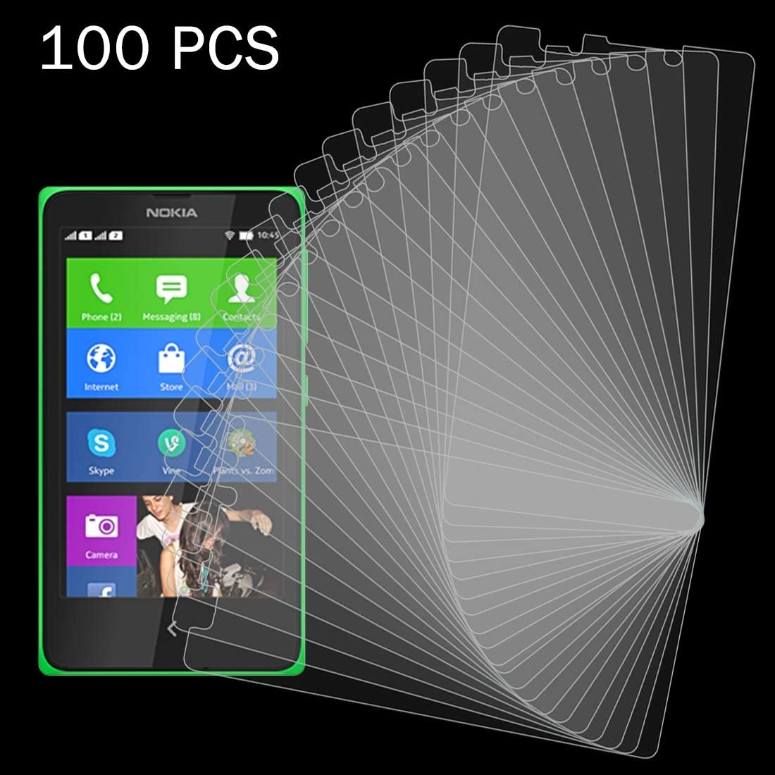 ZYS Screen Protector 100 PCS for Nokia XL 0.26mm 9H Surface Hardness 2.5D Explosion-Proof Tempered Glass Film