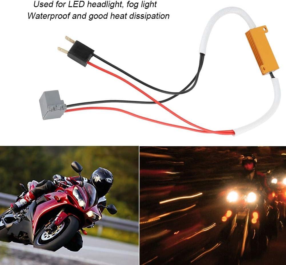 2 st/ücke LED Scheinwerfer Nebelscheinwerfer Lastwiderstand Decoder Anti-Flicker Flash Error Canceler f/ür H7 Auto LED Scheinwerfer Decoder