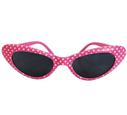 Rosa retro del lunar de las gafas de sol - Coqueta estilo ...