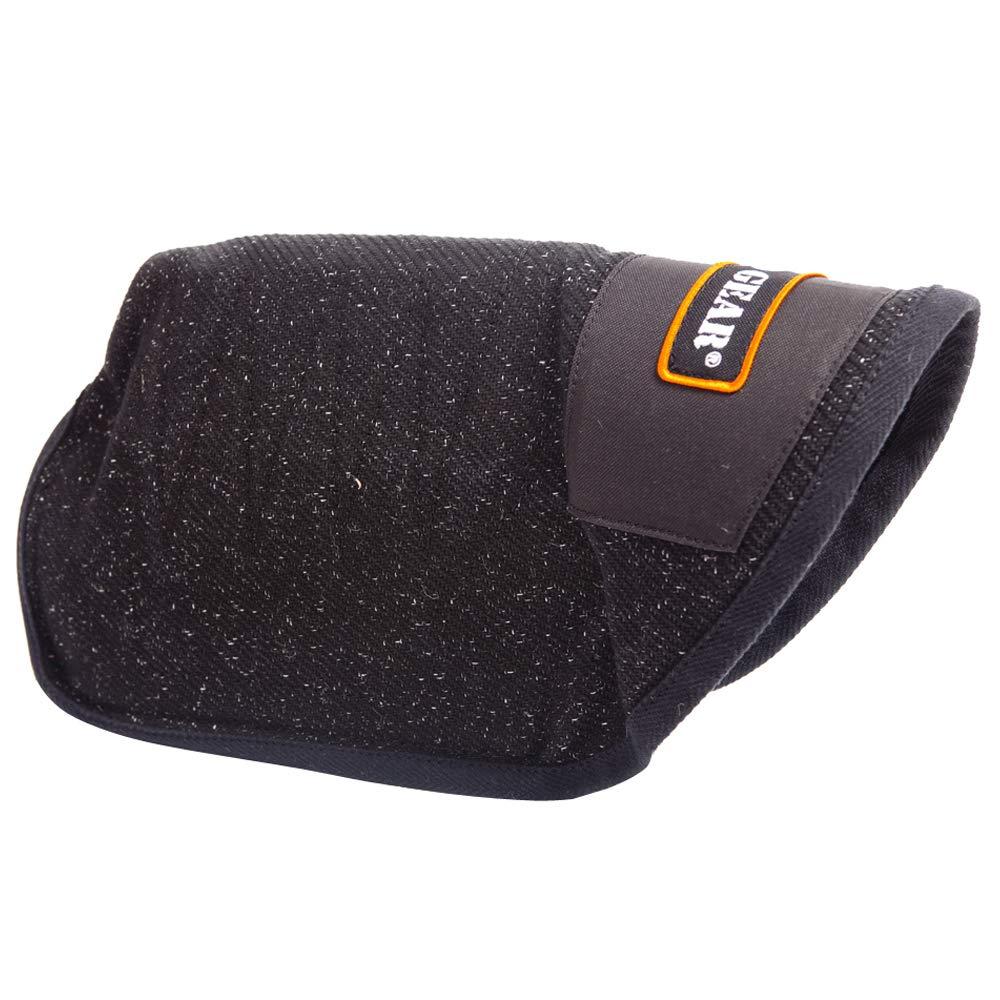 DINGO GEAR Bite Sleeve, Universal for Decoy Right and Left Hand, French Linen, Handmade, Medium Hardness, Black Bell S00538