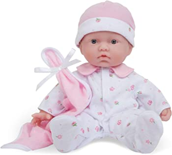 JC Toys La Baby Caucasian 11-Inch Soft Baby Doll