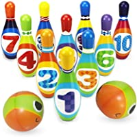 Bowling Game for Kids,Bowling Set Party Toys,Foam Ball Toy Gifts for Toddlers Early Development,10 Pins and 2 Balls…
