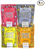 Assorted Ginger Chews (4-Pack)- (4) Gem Gem 5oz Bags - ORIGINAL, MANGO, LEMON & ORANGE | All-Natural, Non-GMO, Gluten Free, Vegan, REAL Indonesian Ginger - The perfect chewy sweet with a kick!