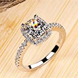 Rings for women bridal wedding fashion jewelry engagement white gold color rings Woman
