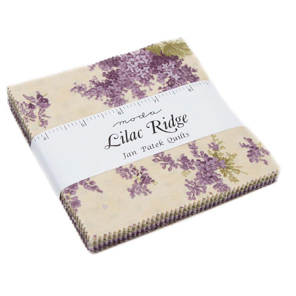 Lilac Ridge Charm Pack by Jan Patek; 42-5 Precut Fabric Quilt Squares United Notions 2210PP