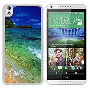 New Beautiful Custom Designed Cover Case For HTC Desire 816 With Tunnels Beach Kauai Hawaii (2) Phone Case