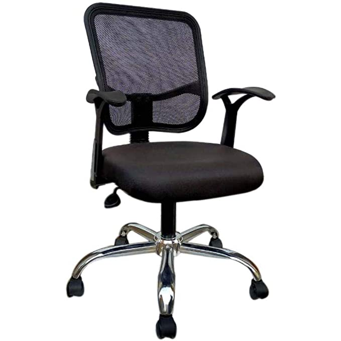 Alfa Chairs Vizolt Royal Chrome Based Mesh Fabric Office Chair