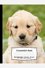 Golden Retriever Composition Notebook: A Sketchbook for Drawing and Doodling (Dog Notebooks) Paperback