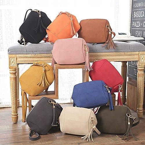à Crossbody Hobo main en cuir Bags bandoulière Sac bandoulière ESAILQ sac en à Rouge pour Sac femme wqF66O8x
