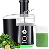 COSTWAY Juice Extractor, Wide Mouth Stainless Steel Juicer Machines, 2-Speed Setting High Speed Masticating Juicer Machine for Fruits and Vegetable with Slag Pot, Juice Jug