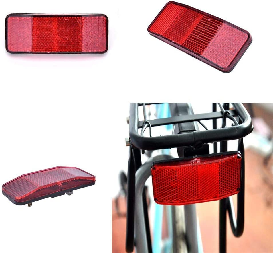 Bicycle Bike Safety Caution Warning Reflector Disc Rear Pannier Racks BestD/&NIU