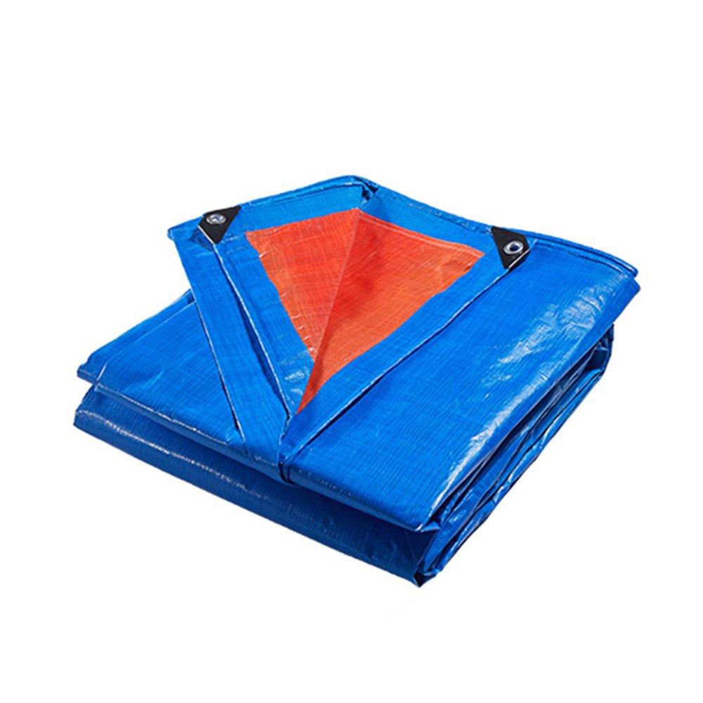WUFENG オーニング 防水 厚い 防雨布 日焼け止め アンチサン 折りたたみが簡単 ポリエチレン プラスチック 屋外 桟橋 厚さ0.38mm 180g/M2 (色 : 青と\u200b\u200b白, サイズ さいず : 4x4m) B07D5DL59T 12996 4x4m|青と白 青と白 4x4m