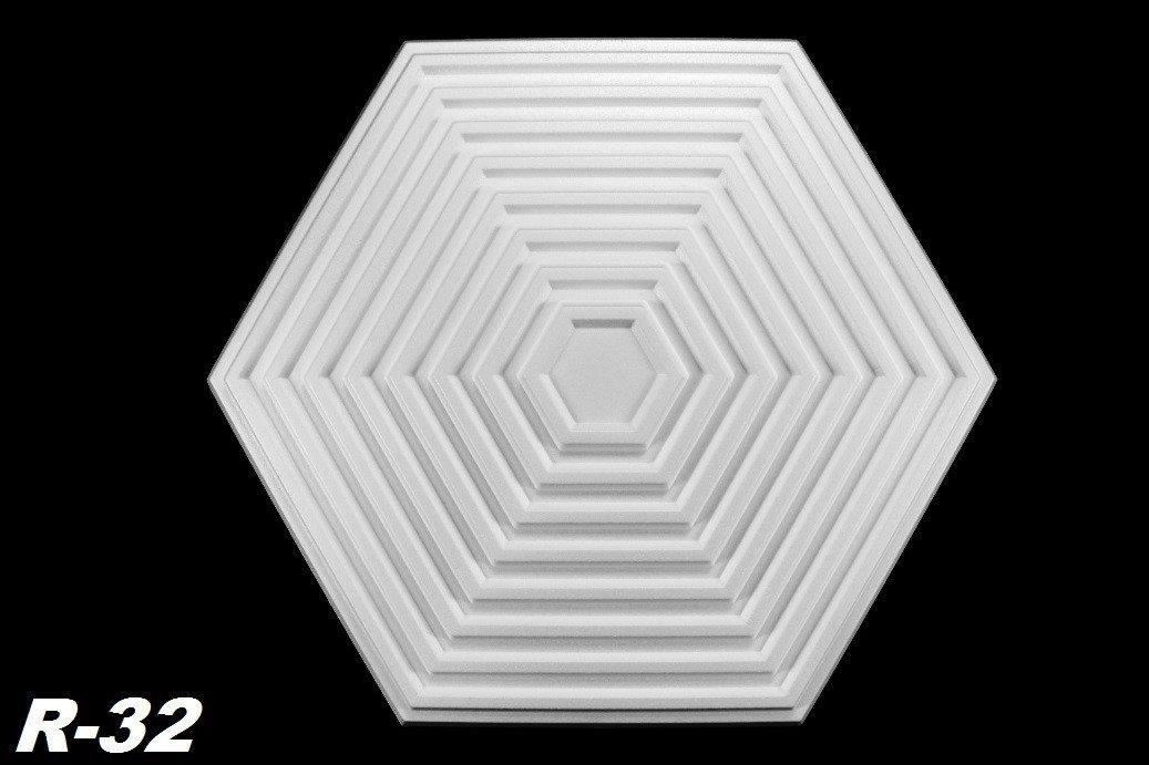1 Marbet Design Rosace Dé cor Inté rieur Inté rieur Dé cor Stuc Rosace de plafond Ø 64 x 55 cm, R de 32