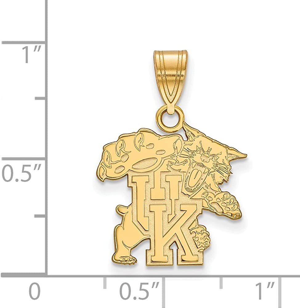 23mm x 16mm 925 Sterling Silver Yellow Gold-Plated Official University of Kentucky Medium Pendant Charm