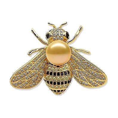 71f4bba0cf4 Amazon.com: Tiande Honey Bee Brooches Crystal Insect Themed Bee ...