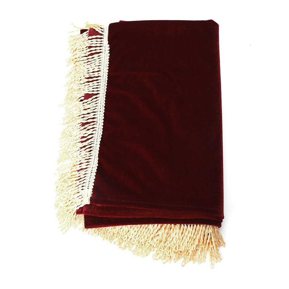 Tassel Gold Velvet Thickened Upright Piano Keyboard Dust Cover Cloth Wine Red 68.5 * 27.9In Dilwe Dilwe3uxeotbcwh