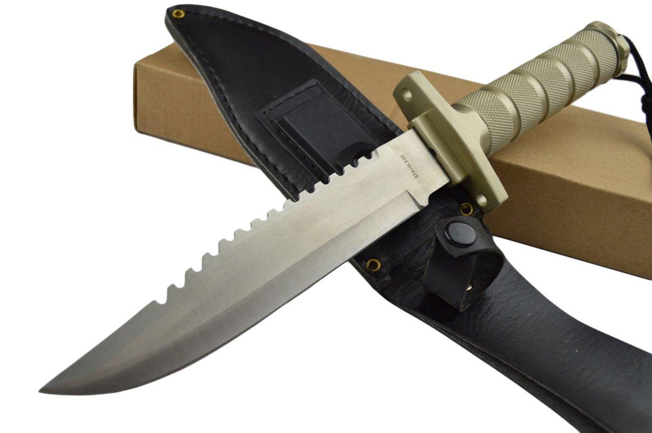 12 Inch supervivencia caza cuchillo de pesca equipo w/Kit de ...