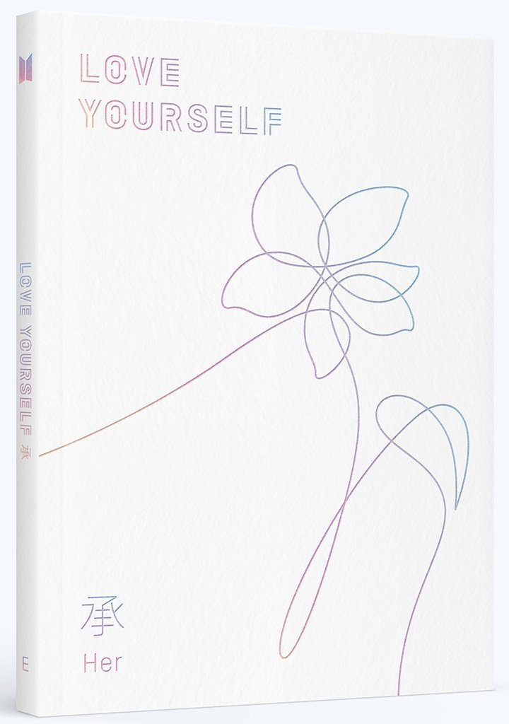 BTS - LOVE YOURSELF 承 [Her] [E Ver.] CD+Photobook+Photocard+E ver. Folded Poster+7 Member Photocards by BTS - LOVE YOURSELF 承 [Her]