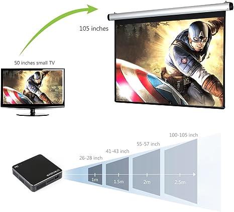DLP Proyector, Crenova XPE700 DLP Proyector Pico Proyector Mini Proyector con Conexión WiFi con Android Smartphone Tablet para Hogar Aire Libre Terraza Cine: Amazon.es: Electrónica