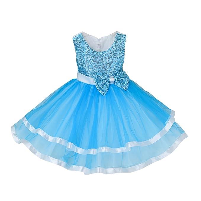 ZAMME Vestido de Fiesta de los Vestidos de Las Muchachas de Lentejuelas de Niña de Las