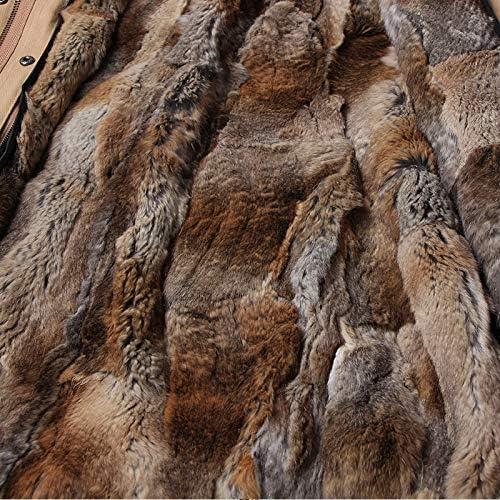 JIANYUXIN Cappotto Cappotto Lungo da Donna in Cappotto Naturale Cappotto in Vera Cappotto Cappotto Invernale Cappotto con Collo in Cappotto Naturale FD2-K40-L