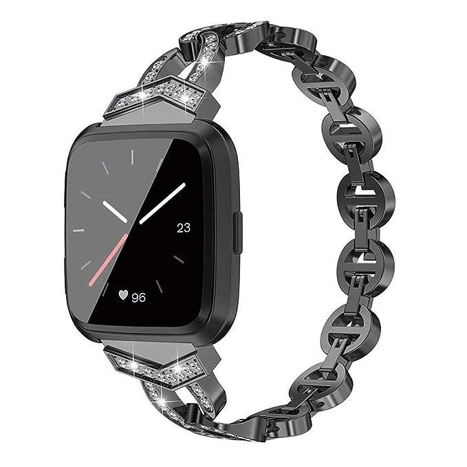 Bling Rhinestones Correa de Reloj Compatible para Fitbit Versa ...