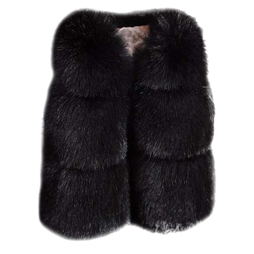 BFYOU Toddler Baby Infant Newborn Vest Winter Warm Coat Jacket Cute Thick Clothes Plush Comfort Black by BFYOU_ Girl Clothing