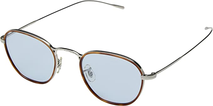 cb0d97ddb03 Amazon.com  Oliver Peoples Unisex Eoin Amber Tortoise Silver One ...