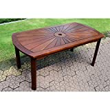 International Caravan VF-4134-IC Furniture Piece Highland Acacia Sunburst Coffee Table For Sale