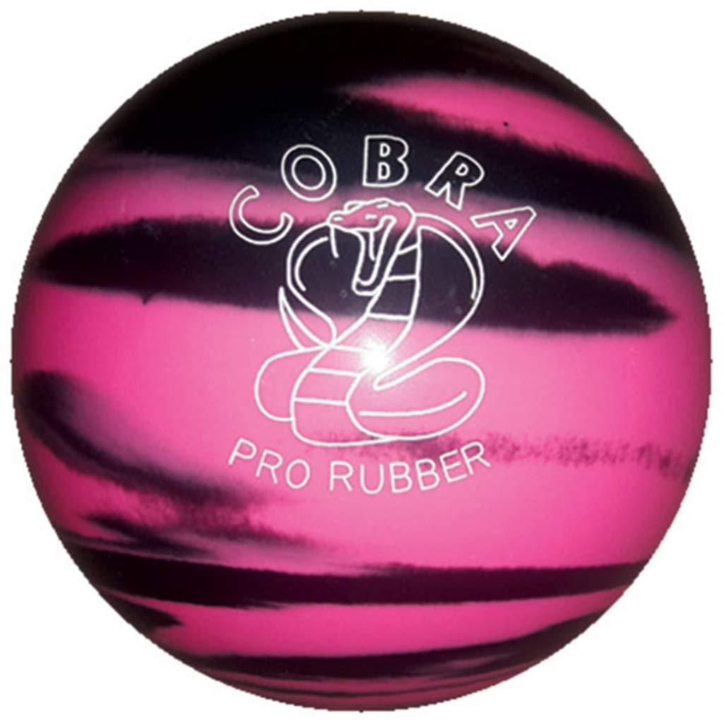Bowlerstore Products Duckpin Cobra Pro ゴム製ボーリングボール 5インチ ピンク/ブラック 3ポンド 8オンス B07NYX8YCC
