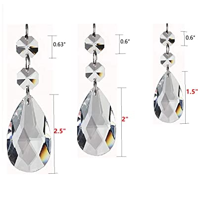 Clear Teardrop Crystal Chandelier Pendants Parts Beads, Hanging Crystals for Chandeliers Bead Prisms Rainbow Suncatcher for Home Décor, Weddings, Baby Rooms and Christmas Tree Decorations Prisms : Garden & Outdoor
