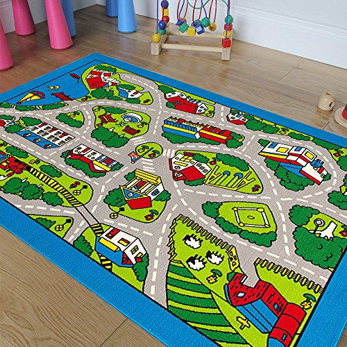 Pro Rugs Children's Play Village Mat Town City Roads Rug ...