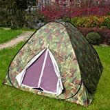 Camouflage Large Camping Hiking Hunting Pop Up Tent Quick Setup, Outdoor Stuffs