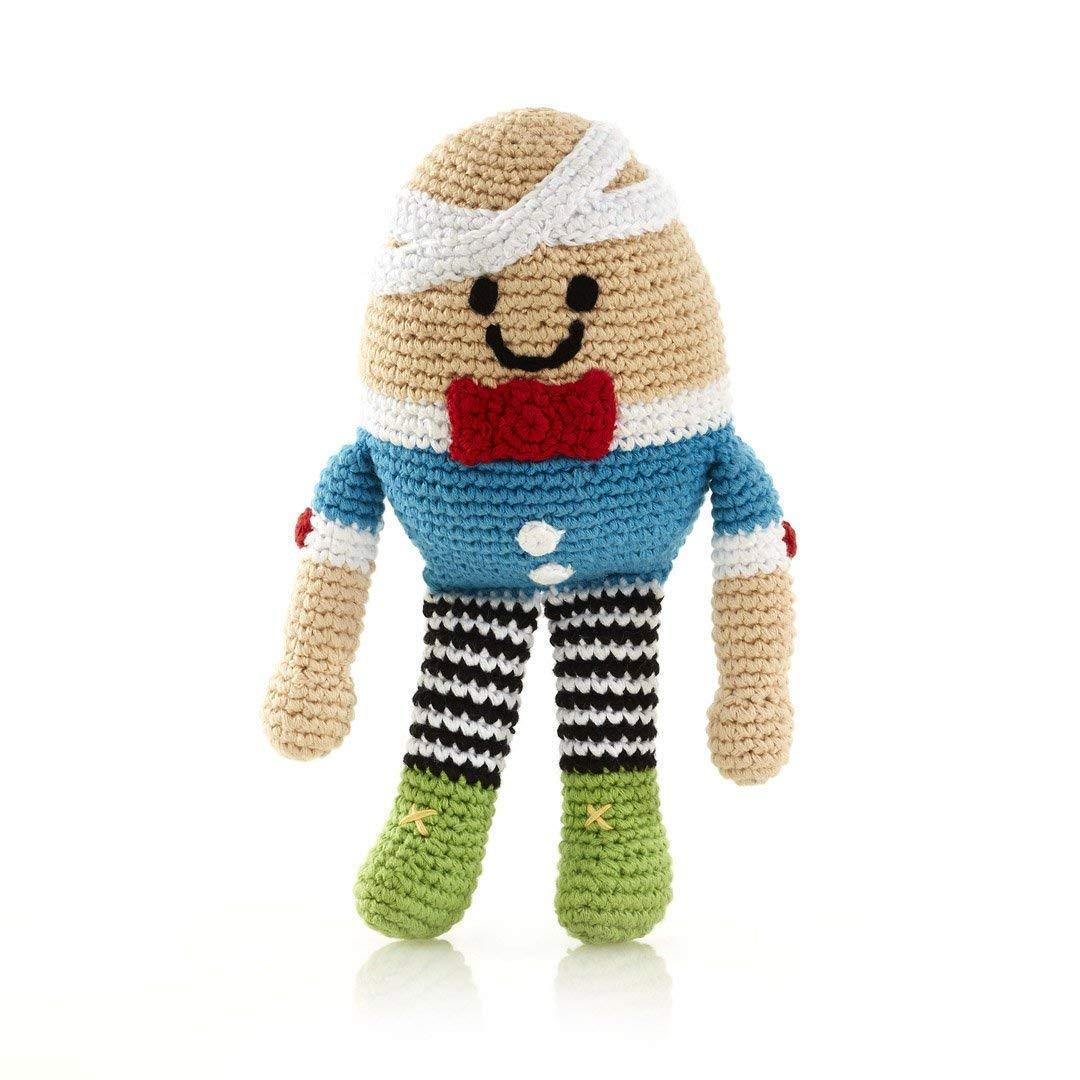 Pebble | Handmade Humpty Dumpty | Crochet | Fair Trade | Pretend | Imaginative Play | Rattle | Machine Washable